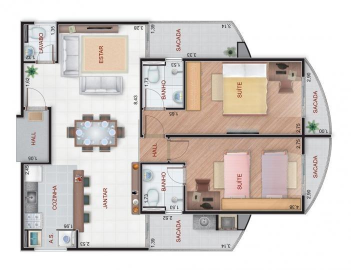 apartamento a venda em mogi das cruzes, vila partenio, 1 dormitório, 1 suíte, 1 banheiro, 1 vaga - 871