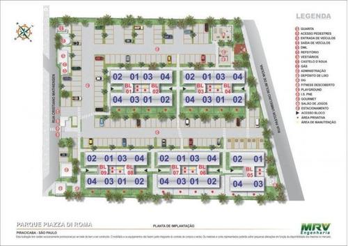 apartamento a venda em piracicaba, bongue, 2 dormitórios, 1 banheiro, 1 vaga - ap139