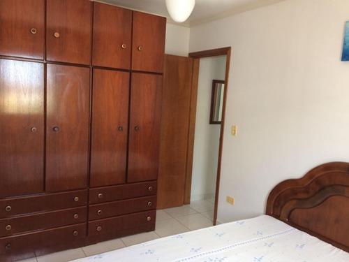apartamento a venda em praia grande, 1 dormitório, 1 banheiro, 1 vaga - 823625