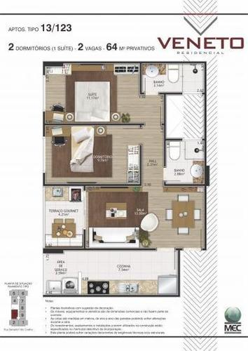apartamento a venda em praia grande, aviação, 1 dormitório, 1 suíte, 2 banheiros, 1 vaga - ap154