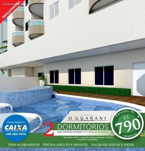 apartamento a venda em praia grande, ocian, 2 dormitórios, 1 suíte, 2 banheiros, 1 vaga - ap151