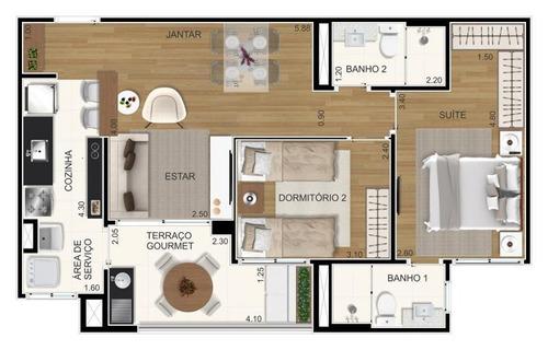apartamento a venda em santo andré, silveira, 2 dormitórios, 1 suíte, 2 banheiros, 1 vaga - bienvenido