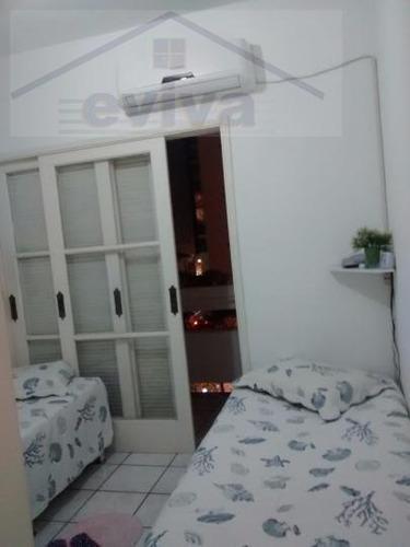 apartamento a venda em santos, gonzaga, 1 dormitório, 1 banheiro, 1 vaga - a01/186