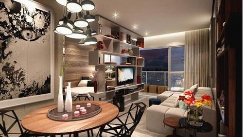 apartamento a venda em são paulo, brooklin, 1 dormitório, 1 banheiro, 1 vaga - 008