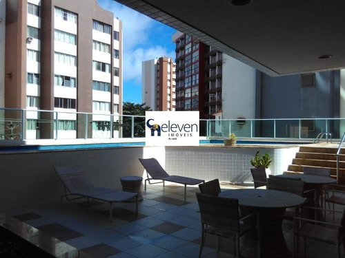apartamento a venda na barra salvador 2 quartos sendo uma suite, sala, varanda, área de serviço, cozinha, banheiro, 1 vaga, 72 m². - ap01163 - 32646354
