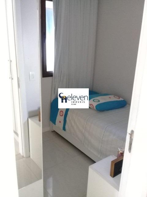 apartamento a venda na pituba, salvador com 3 quartos sendo duas suites, lavabo, sala, varanda, cozinha, área de serviço, banheiro, 2 vagas, 93 m² - ap01356 - 32760856