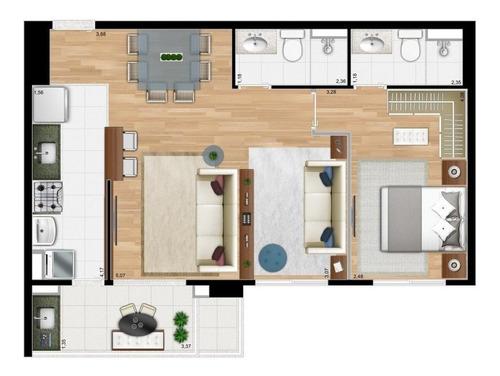 apartamento a venda no bairro botafogo em campinas - sp.  - ap1540-1