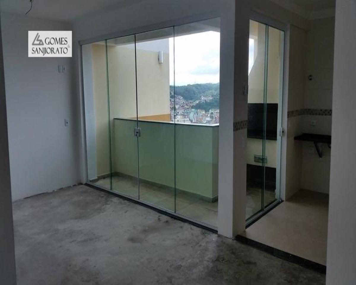 apartamento a venda no bairro centro alto em ribeirão pires - sp. 3 banheiros, 2 dormitórios, 1 suíte, 1 vaga na garagem, 1 cozinha,  área de serviço,  sala de tv.  - 2675 - 2675 - 34724714