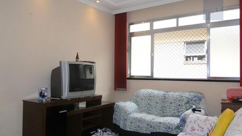 apartamento a venda no bairro embaré em santos - sp.  - 291-7156