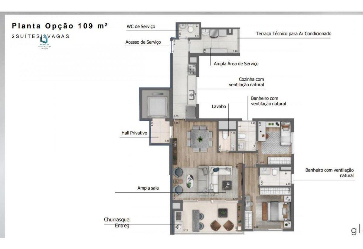 apartamento a venda no bairro perdizes em são paulo - sp.  - 188-1