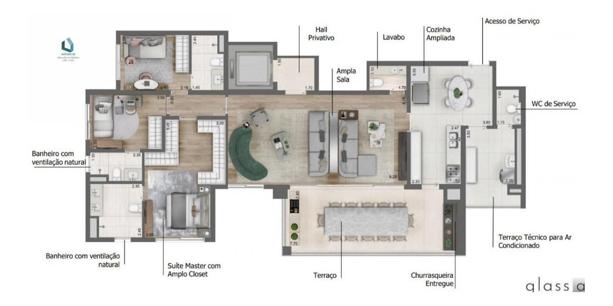 apartamento a venda no bairro perdizes em são paulo - sp.  - 189-1