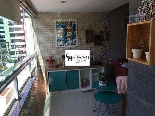 apartamento a venda pituba salvador com 3 quartos sendo duas suites, sala, varanda, área de serviço, 2 vagas, 105 m². - ap01175 - 32665711