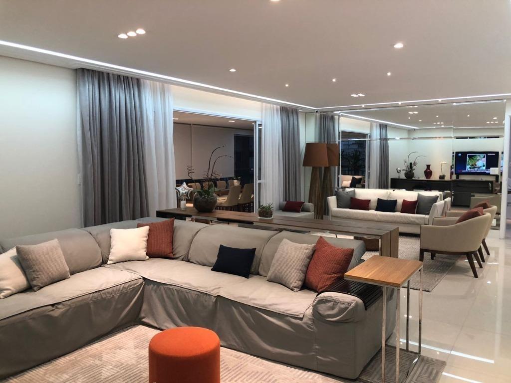 apartamento altíssimo padrão para venda na vila mariana i semi-mobiliado i varanda gourmet i 4 suítes i 246m² i 4 vagas - ap1446