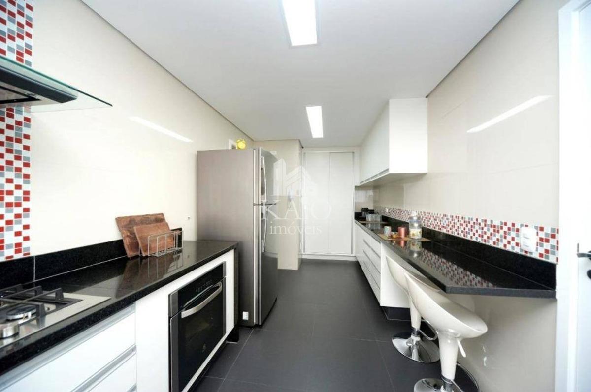 apartamento alto padrão 163m², 3 suítes, mobiliado, 4 vagas