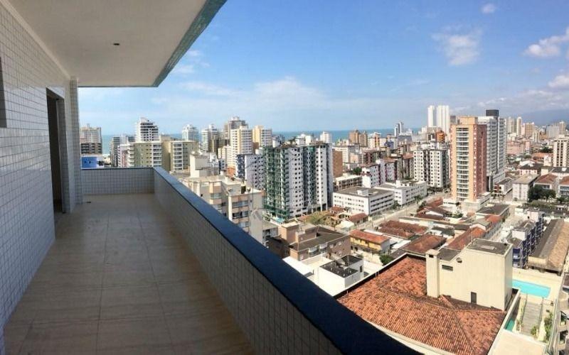 apartamento alto padrão 3 dormitórios no canto do forte em praia grande aceita financiamento direto