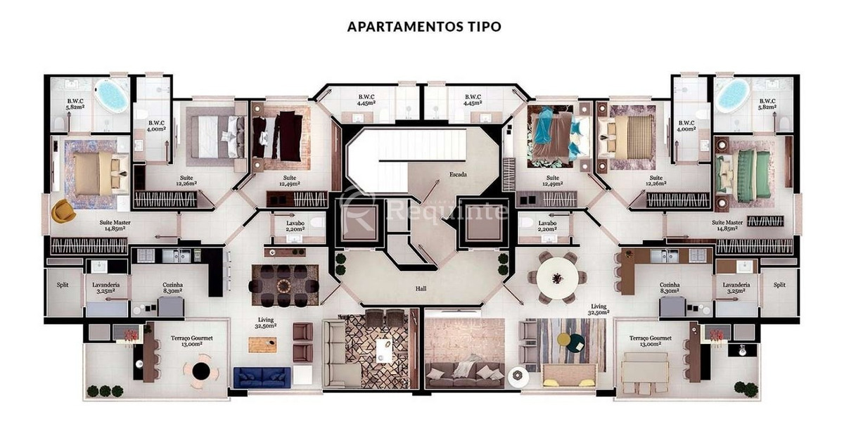 apartamento alto padrão com 3 suítes em itapema - 1755