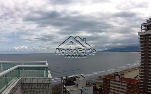 apartamento alto padrão no canto do forte com vista para o mar na praia grande