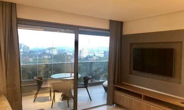 apartamento alto padrão para locação em pinheiros i 2 dormitórios sendo 1 suíte i varanda i mobiliado i 66m2 i 1 vaga - ap1403