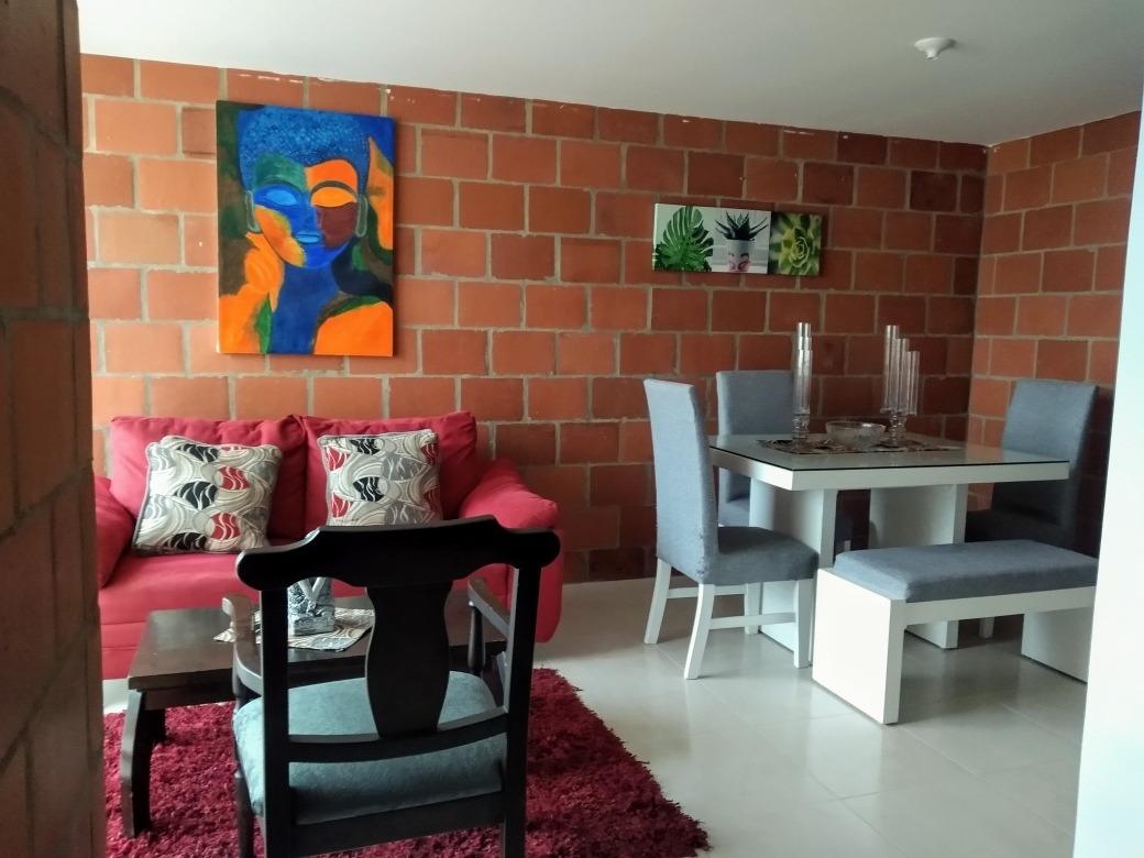 apartamento amoblado conjunto cerrado en la villa olimpica