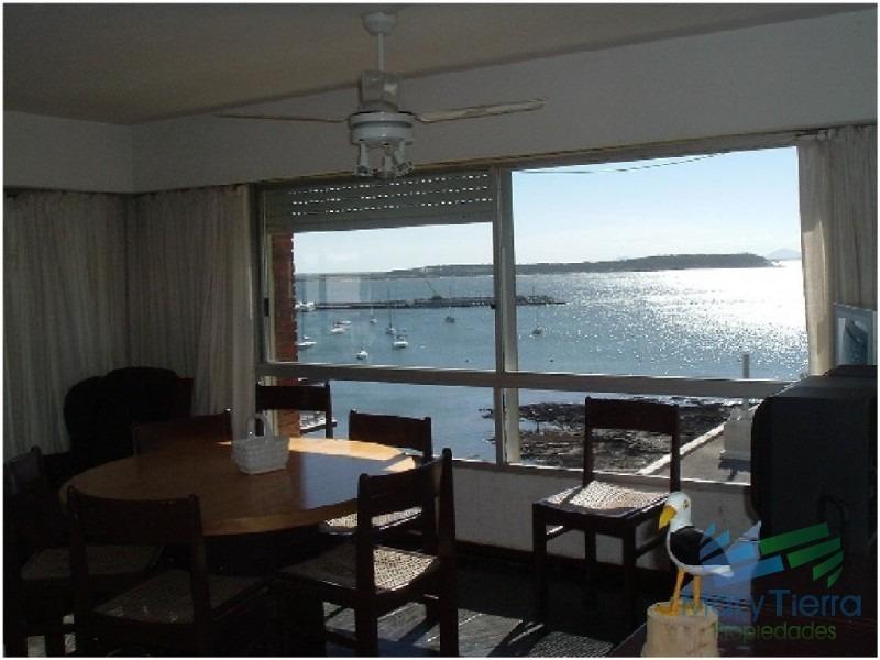 apartamento amplio, luminoso con excelentes vistas al mar , y puerto de punta del este-ref:1084