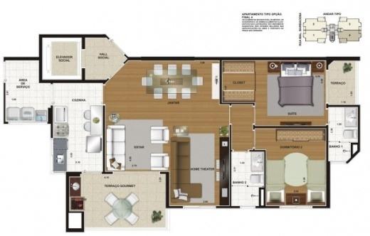 apartamento anália franco / 95m² / terraço gourmet
