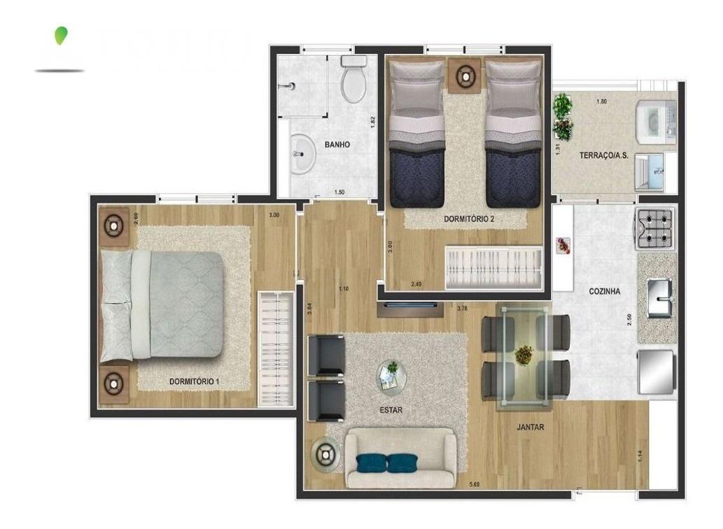 apartamento - ap00446 - 34469931