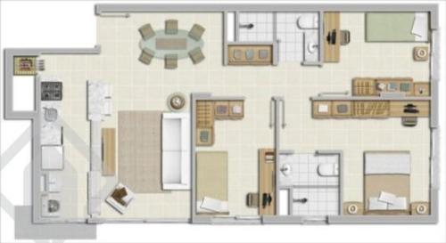 apartamento - azenha - ref: 74029 - v-74029