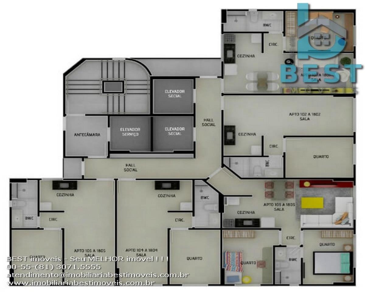 apartamento beach class jaqueira - ap02419 - 33619601