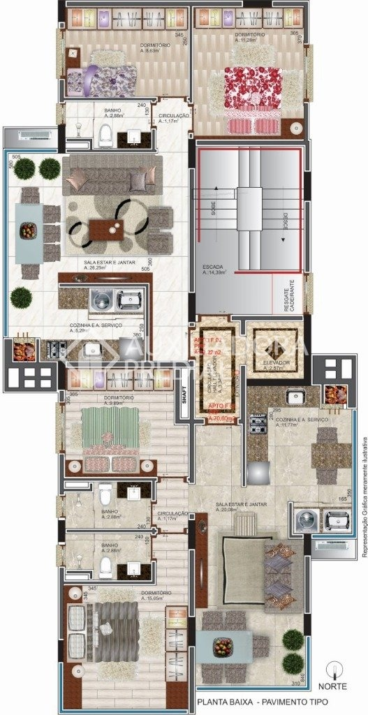 apartamento - borgo - ref: 256308 - v-256308