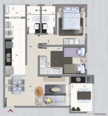 apartamento  b.santa eugenia, em mongaguá, ref. 3302 m h