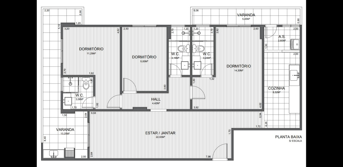 apartamento canto do forte (estudo permuta e ou locação)
