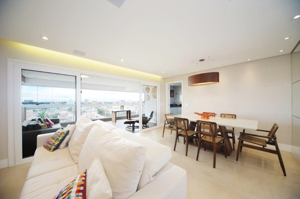 apartamento capa de revista 163m², mobiliado, 3 suítes
