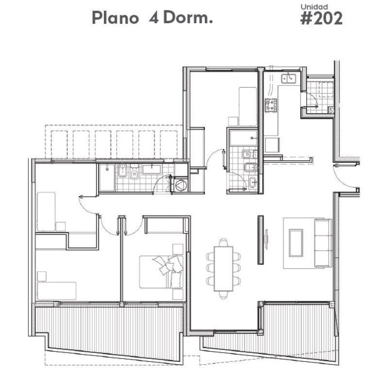 apartamento centro alquiler y venta  4 dormitorios andes y maldonado ed. alma sur