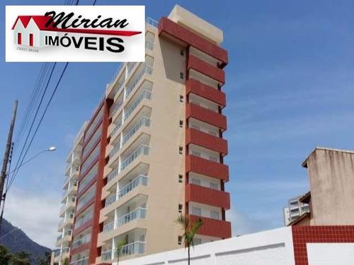 apartamento centro de peruibe com varanda e espaço goumert - ap00095 - 4260775