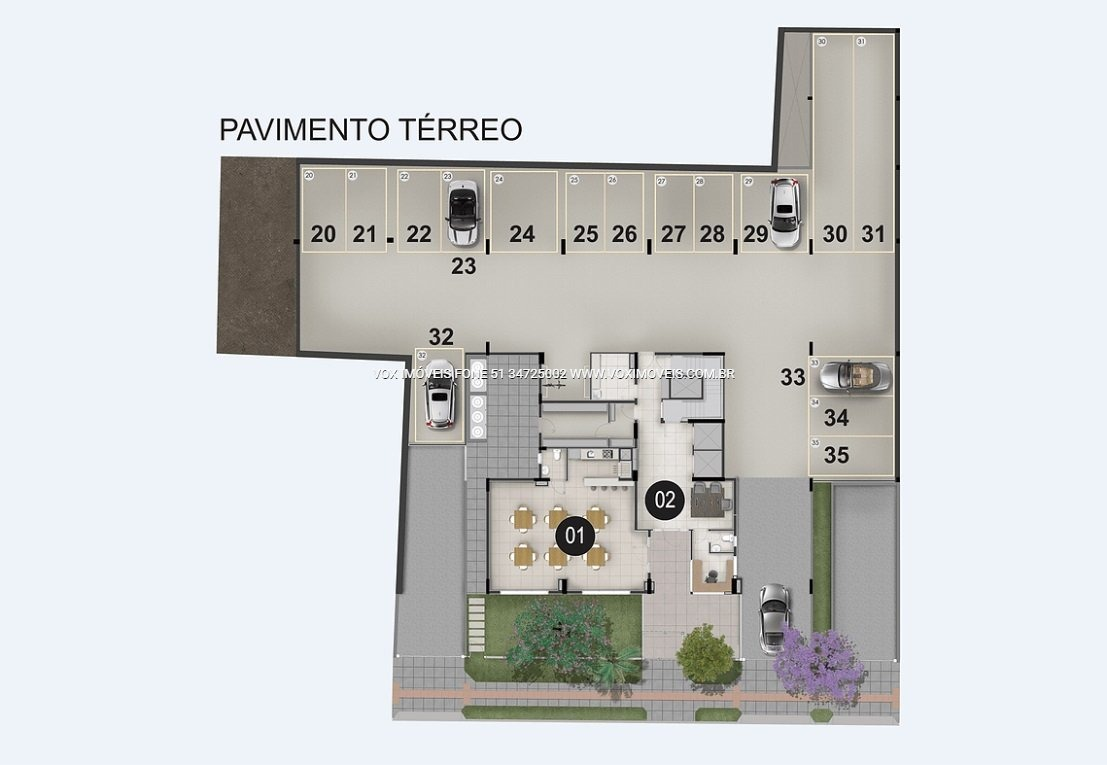 apartamento - centro - ref: 46961 - v-46961