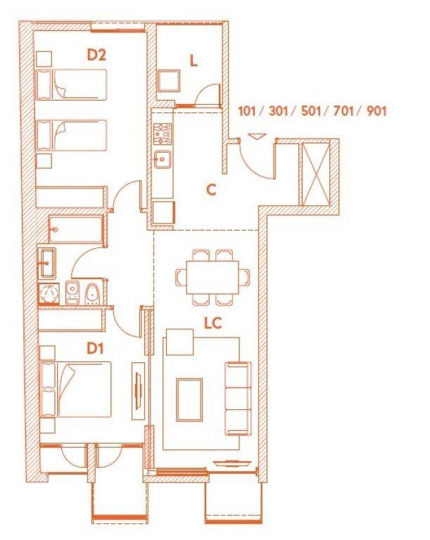 apartamento centro venta 2 dormitorios canelones y convención ed. alma corso