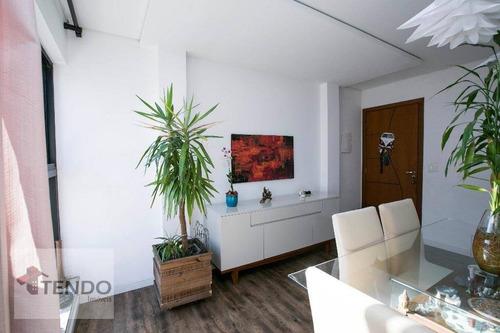apartamento cobertura 108 m2 - 2 dormitórios - 1 suíte - vila marlene - são bernardo do campo. - co0009