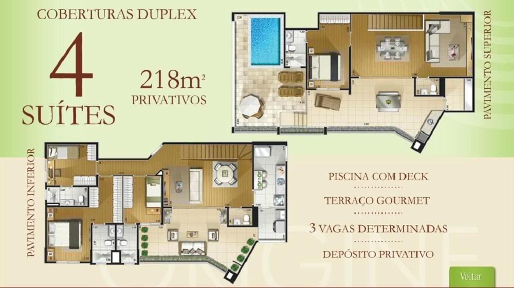 apartamento cobertura origine moóca - 4 suítes. 3 vagas