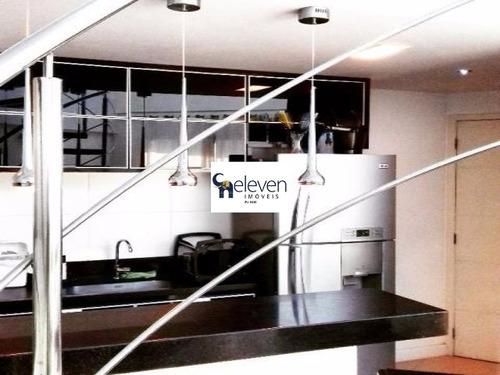 apartamento cobertura para locação ondina, salvador 1 dormitório sendo suite, 1 sala, 1 banheiro, 2 vagas, 100 m². - tjl1044 - 4712121