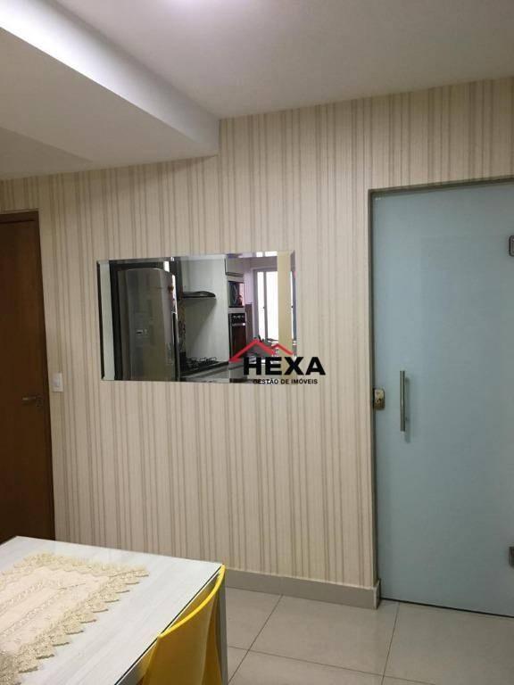 apartamento com 02 quartos à venda, 60 m²  - parque amazônia - goiânia/go - ap0338
