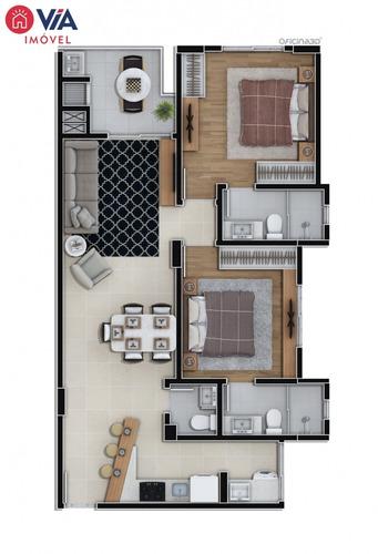 apartamento com 02 suites a 150mt da beira rio em itajai - 118