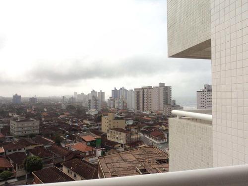 apartamento com 1 dorm, caiçara, praia grande - r$ 206.397,80, 37,93m² - codigo: 412607 - v412607
