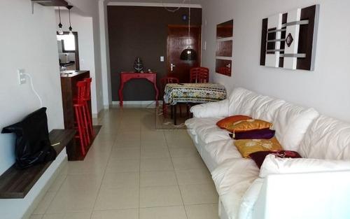 apartamento com 1 dormitório com suite de frente pro mar em vila caiçara praia grande.