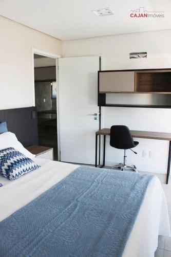 apartamento com 1 dormitório e 2 vagas de garagem no bairor petrópolis - ap2376