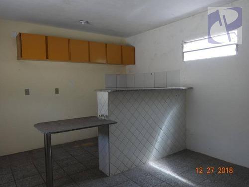 apartamento com 1 dormitório para alugar, 35 m² por r$ 600/mês - cambeba - fortaleza/ce - ca2841