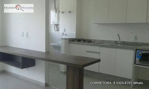 apartamento com 1 dormitório para alugar, 37 m² por r$ 1.900,00/mês - granja viana - cotia/sp - ap0664