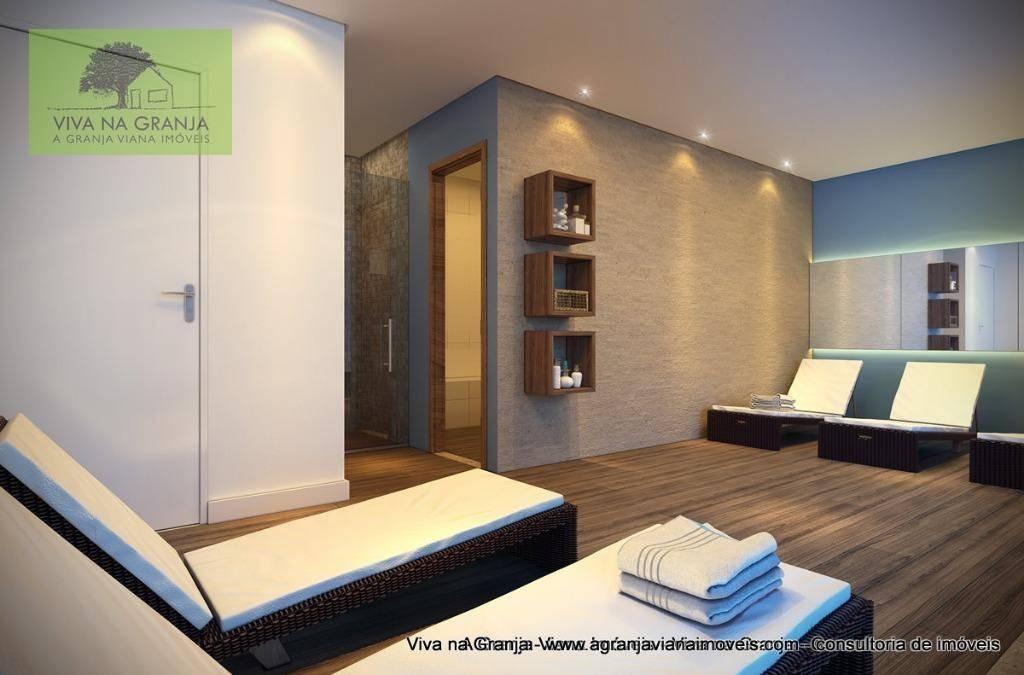 apartamento com 1 dormitório para alugar, 38 m² por r$ 2.100/mês - granja viana - cotia/sp - ap0045