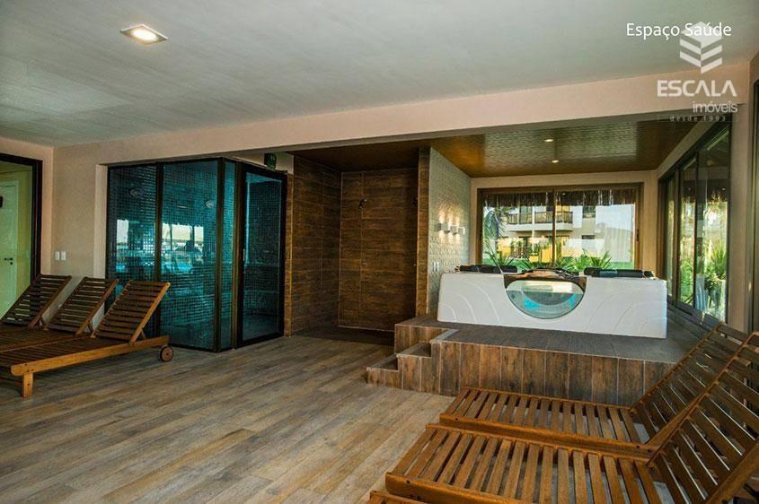 apartamento com 1 dormitório para alugar, 39 m² por r$ 250,00/dia - cumbuco - caucaia/ce - ap1084