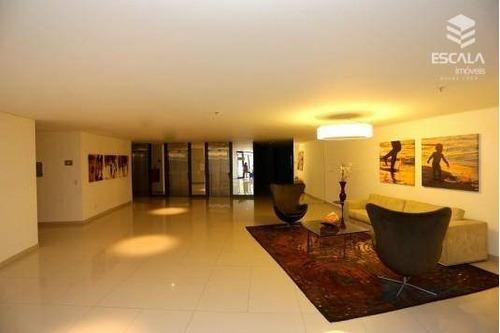 apartamento com 1 dormitório para alugar, 40 m² por r$ 200/dia - meireles - fortaleza/ce - ap1098