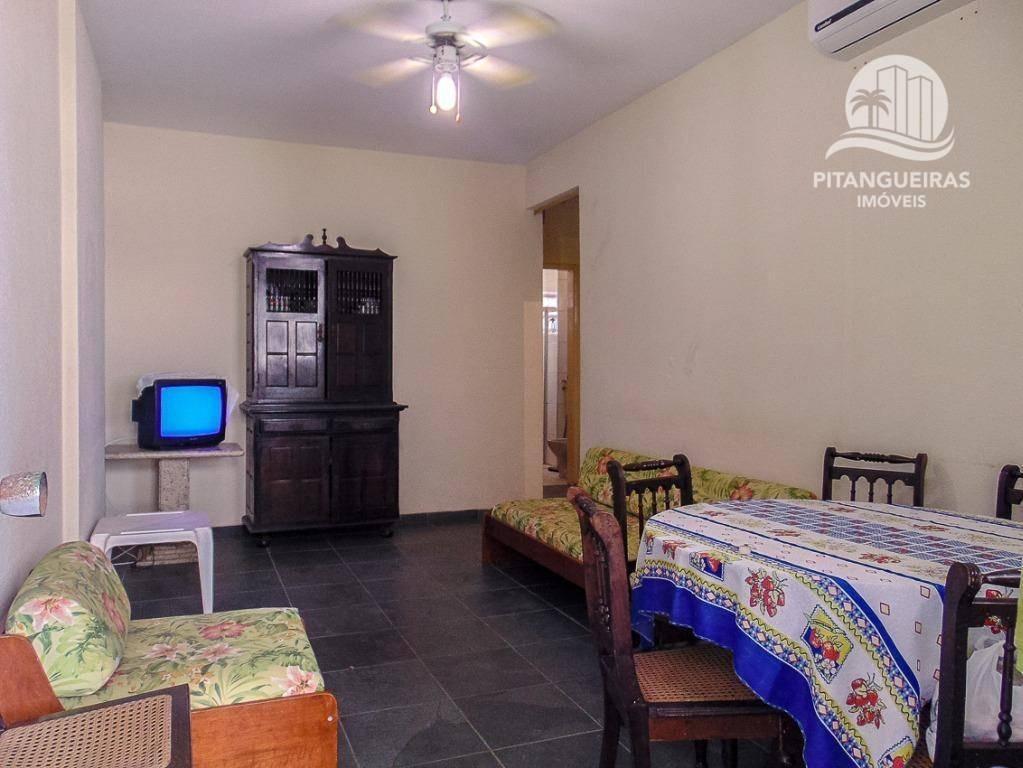 apartamento com 1 dormitório para alugar, 48 m² - pitangueiras - guarujá/sp - ap5000
